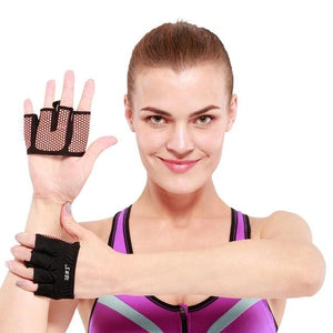 Crossfit Gym Gloves Four Half Finger Women Men Workout Glove Power Weight Lifting Bodybuilding Hand Protector-outdoor-betahavit-Orange-S-betahavit