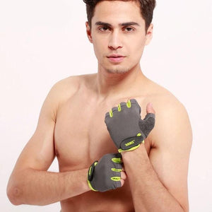 Half Finger Gym Gloves Fitness Glove Unisex Adult Wrist Weightlifting Gear Exercise for Men & Women-outdoor-betahavit-Green-S-betahavit