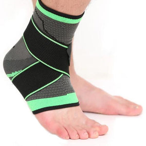 3D Weaving Elastic Nylon Strap Ankle Support Brace Badminton Basketball Football Taekwondo Fitness Heel Protector-outdoor-betahavit-Green-L-betahavit