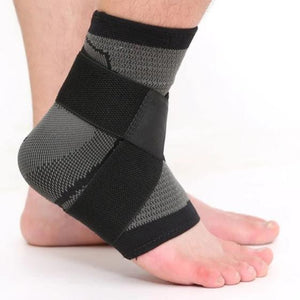 3D Weaving Elastic Nylon Strap Ankle Support Brace Badminton Basketball Football Taekwondo Fitness Heel Protector-outdoor-betahavit-Black-L-betahavit