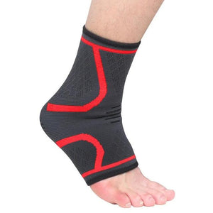 Ankle Brace Compression Support Sleeve Elastic Breathable for Injury Recovery Joint Pain femme Foot Sports Socks-outdoor-betahavit-Red-M-betahavit