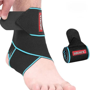 1PCS Elastic Silicone Ankle Support Brace Strap Basketball Football Professional-outdoor-betahavit-Blue-betahavit