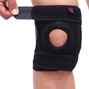 1PCS Mountaineering Knee Pad with 4 Springs Support Cycling Knee Protector Mountain Bike Sports Safety Kneepad Brace-outdoor-betahavit-betahavit