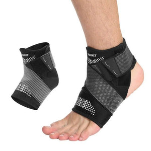 Pressurization Sports Ankle Brace Support Adjustable Elastic Bandage Foot Strap Protective Gear Gym Fitness-outdoor-betahavit-Gray-L-Right foot-betahavit