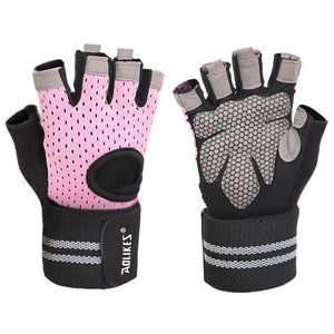 Professional Gym Gloves Exercise Gloves Women Men Hands Protecting Breathable Sports Gloves Fitness Weight-lifting-outdoor-betahavit-Pink 2-XL-betahavit