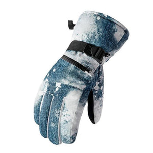 Thermal Ski Gloves Men Women Winter Fleece Waterproof Warm Snowboard Snow Gloves 3 Finger Touch Screen for Skiing Riding-outdoor-betahavit-Blue-L-betahavit