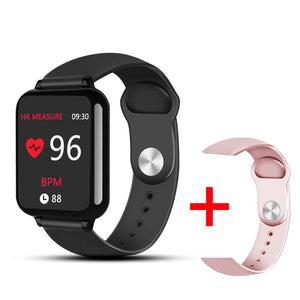 Waterproof Sports for iphone phone Smartwatch Heart Rate Monitor Blood Pressure Functions For Women men kid-outdoor-betahavit-b add 1 pink strap-with box-betahavit