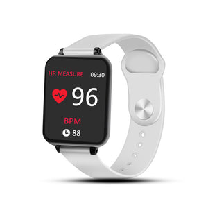 Waterproof Sports for iphone phone Smartwatch Heart Rate Monitor Blood Pressure Functions For Women men kid-outdoor-betahavit-White-without box-betahavit