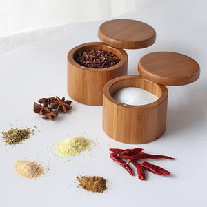 Bamboo Spice Shaker Jar Sugar Salt Pepper Herbs Toothpick Storage Bottle BBQ Box With Lid For Kitchen Tool-home-betahavit-betahavit