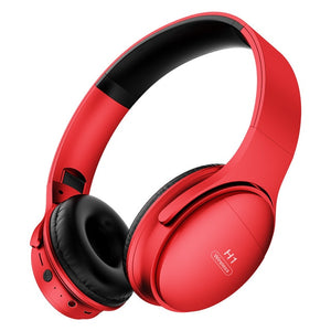 Bluetooth Headphone 5.0 Wireless Hifi Sport Headset Stereo Gaming Earphones with Mic Support TF Card for Phone PC Mp3 Music-electronic-betahavit-Red-betahavit