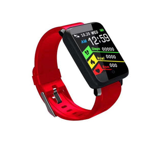 Bluetooth Smart Watch Fitness Band Sports Bracelet Blood Pressure Pedometer F1 For Android-outdoor-betahavit-Red-betahavit