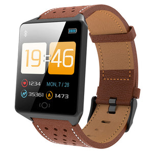Android/IOS Waterproof Wearable Device Bluetooth SmartWatch Pedometer Heart Rate Monitor Color Display-outdoor-betahavit-ck19- brown-betahavit