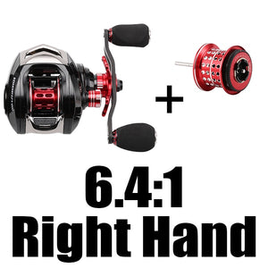 CLOSE OUT ELF II Dual Brake Systems 169g Ultra-light Carbon Fiber Baitcasting Fishing Reel 6.4:1/7.2:1 Fishing Wheel-outdoor-betahavit-6.4 R with Spool-14-China-betahavit