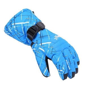 Brand Men Skiing Gloves TPU Bag Waterproof Motorcycle Winter Snowmobile Snowboard Ski Gloves Warm Ride Skate Thick Gloves-outdoor-betahavit-blue-L-China-betahavit