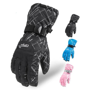 Brand Men Skiing Gloves TPU Bag Waterproof Motorcycle Winter Snowmobile Snowboard Ski Gloves Warm Ride Skate Thick Gloves-outdoor-betahavit-betahavit