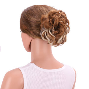 Women's Synthetic Curly Chignon Ombre Claw Hair Messy Buns Updo Cover Hairpieces-hair-betahavit-27H613-betahavit