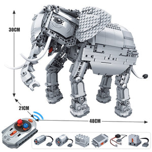 1542pcs Creative Electric Remote Control Machinery Building Blocks Technic RC Elephant Animal Bricks Toys for Children-toys-betahavit-Without original box-China-betahavit