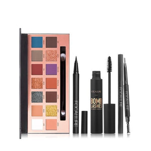5pcs Makeup Sets include 14 colors Eyeshadow Eyebrow Eyeliner Mascara Cosmetic Kit-beauty-betahavit-20184-betahavit