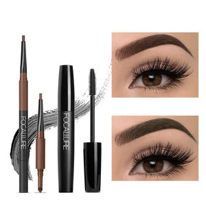 Eyes Makeup Set Fashion and Hot 3D Eyelash Mascara & 3 in 1 Auto Eyebrow pen Perfect for make up-beauty-betahavit-betahavit