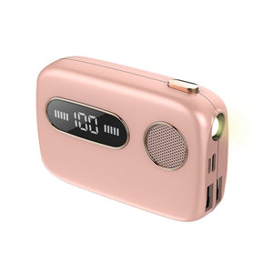 G09 Bluetooth Stereo Earphone Wireless Slide Cover No Delay Earbud Headset 5000mAh Battery Power Bank LED Light Type-c/Micro USB-electronic-betahavit-Pink-betahavit