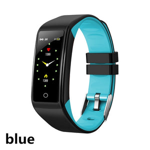Heart rate monitor blood pressure sleep monitoring waterproof smart bracelet Bluetooth 4.0 support Android IOS-outdoor-betahavit-blue-betahavit