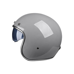 3/4 Open Face Retro Motorcycle Helmet Dual Lens Visors Casco Moto Electric Bicycle Helmet Summer Motorbike Helmet DOT-outdoor-betahavit-V-060 Gray-M-betahavit
