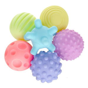 6pcs/lot Pets Dog Puppy Cat Ball Teeth Toy Chew Sound Dogs Play Squeak Toys Pet Supplies-home-betahavit-Yellow-one size-betahavit