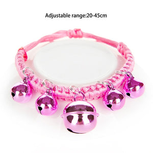Adjustable Pet Collar Puppy And Cat Leash Puppy Necklace With Bell For Dogs-home-betahavit-Pink-betahavit