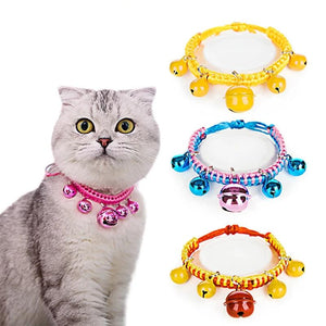 Adjustable Pet Collar Puppy And Cat Leash Puppy Necklace With Bell For Dogs-home-betahavit-betahavit