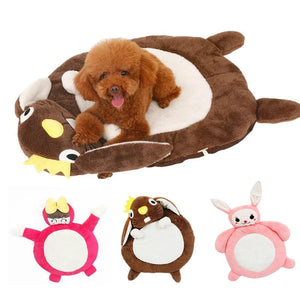 All Seasons Lovely Cartoon Pet Dog Cat Pad Bolster Bed Mat Warm Soft Cushion with Water-Resistant Base-home-betahavit-betahavit