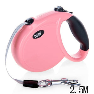 Automatic Retractable Dog Leash For Cat Easy Gripping 3 M/5 M Pulling Dog Lead Leash for Small Medium Pet Dogs-home-betahavit-pink XS-as above-betahavit