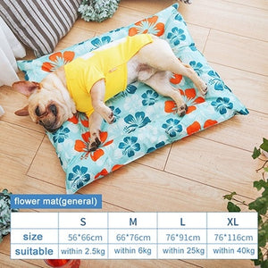 Breathable Pet Dog Cat Summer Print Sleeping Mat Self Cooling Mat Cold Pad Ice Cushion For Big Small Dog-home-betahavit-as picture 29-XL-betahavit
