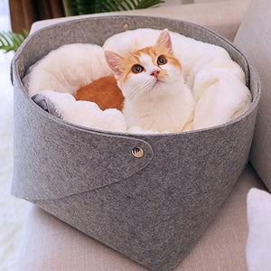 Cat Basket Pet Dog Bed for Cat Warm Bed Dogs Houses for Cats Pets Products House for Cat Puppy Soft Comfortable House-home-betahavit-betahavit