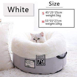 Cat Bed Bench for Cats Soft Material House for Cat Nest Winter Warm Kennel For Puppy-home-betahavit-Gray-S-betahavit