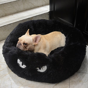 Cat Bed House Soft Long Plush Cat Bed Best Pet Dog Bed For Small Dogs Cats Nest Winter Warm Sleeping Bed Puppy Mat-home-betahavit-Black-M-betahavit