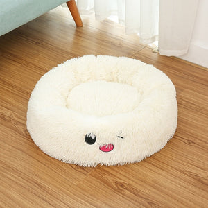 Cat Bed House Soft Long Plush Cat Bed Best Pet Dog Bed For Small Dogs Cats Nest Winter Warm Sleeping Bed Puppy Mat-home-betahavit-White-L-betahavit