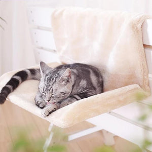 Cat Cradle Hammock Radiator Bed Cushion with Adjustable Holding Lounger for Cats Sheepskin Effect Cover-home-betahavit-betahavit