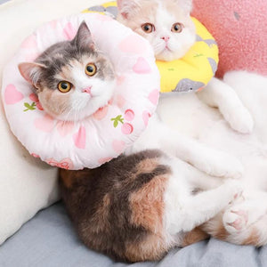 Cat Hood Cat Soft Anti-bite Soft Cloth Adjustable Circle Dog Collar Supplies-home-betahavit-betahavit