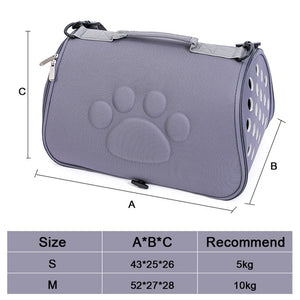 Dog Carrier Bag Portable Cats Handbag Foldable Outdoor Travel Bag Puppy Carrying Shoulder Backpack Pet Bags-home-betahavit-White-43x25x26cm-betahavit
