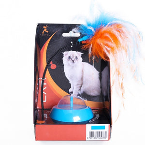 Funny Pet Electric Toy Cat Plush Teaser Feather Baiting Moving Bait Rods Interactive Stick Cat Supplies-home-betahavit-Blue-one size-betahavit