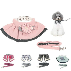 Pet Cat Walking Harness and Leash Clothes Small Puppy Harness Vest beautiful Jacket 5 styles-home-betahavit-betahavit