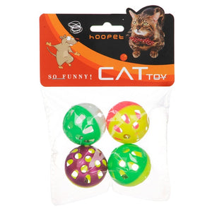 Pet Dog Cat Hollow Ball Toy with Bell Sound Four Ball Interactive Colorful-home-betahavit-White-free size-betahavit