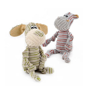 Pet Dogs Little Donkey and Pony Striped Toy Vocal Strong Resistance to Bite Puzzle Molar-home-betahavit-betahavit