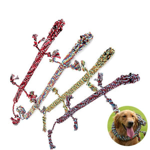 Pet Toys Dogs Cotton Rope Widget Puppy Chew Supplies Doggie Anti-boredom Products Resistance To Bite 1.2M Funny Tool-home-betahavit-betahavit