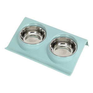 Stainless Steel Double Pet Bowls for Dog Puppy Cats Food Water Feeder Pets Supplies Feeding Dishes Dogs Bowl-home-betahavit-Blue-S-betahavit