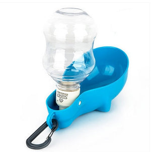 Portable pet dog drinking out of water bottle practical large capacity Safe and sound-home-betahavit-blue-S-betahavit