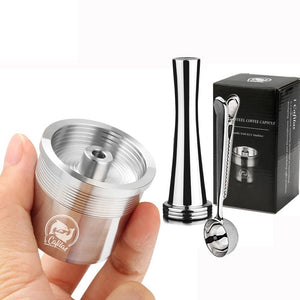 STAINLESS STEEL Metal Compatible for illy coffee Machine Maker Refillable Reusable Capsule fit for illy Espresso Cafe-home-betahavit-betahavit