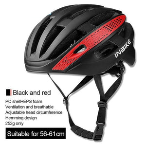 Bicycle Cycling Helmet Ultralight EPS+PC Cover MTB Road Bike Helmet Integrally-mold Cycling Helmet Men Cycling Safely Cap-outdoor-betahavit-Black and Red-betahavit