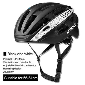 Bicycle Cycling Helmet Ultralight EPS+PC Cover MTB Road Bike Helmet Integrally-mold Cycling Helmet Men Cycling Safely Cap-outdoor-betahavit-Black and White-betahavit