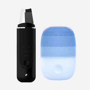 Upgrade Version Facial Cleansing Brush & Ultrasonic Ion Cleansing Skin Scrubber-beauty-betahavit-Black and Blue-China-betahavit